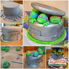 Teenage Mutant Ninja Turtle Cake- Lisa here is the recipe so you can make it for Matt!!!