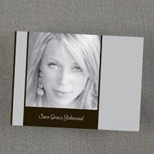 All Grown Up Photo Thank You Note - Sterling Background