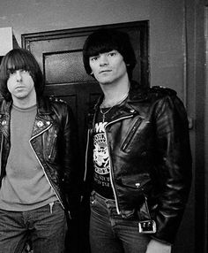 Johnny and Dee Dee Ramone photographed by Adrian Boot