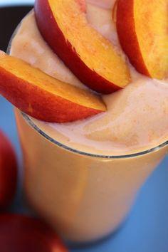 Creamy Peach Smoothie - No Diets Allowed