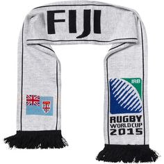 Fiji - Rugby WC 2015 Scarf Ideal Gift for all Rugby Fans Scarf Dimensions x approx Brand New with Tags - Header Card Official Licensed Irb Rugby, Rugby World Cup, Fiji, Header, Adidas Jacket, Brand New, Tags, Jackets, Shopping