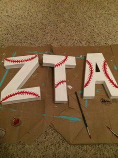 Baseball letters for Bid Day