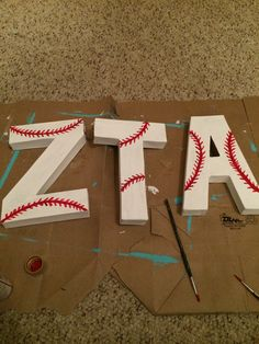 Baseball letters for Bid Day