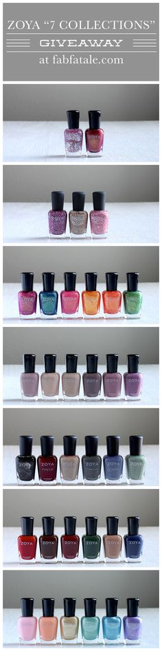 I just entered to win the entire Zoya 7 collection giveaway at http://www.fabfatale.com/2014/06/manicure-mondays-essie-summer/ #zoya #nailpolish #giveaway