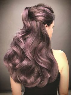 Color - Modern Salon - Page 7 Dusty lavender hair color by Guy Tang. Lavender Hair Colors, Lilac Hair, Pastel Hair, White Hair, Blue Hair, Lilac Grey Hair, White Blonde, Bright Hair, Colorful Hair
