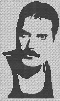 Freddie Mercury Tribute Crochet Pattern/Chart/Graph PLUS Pixel Crochet, C2c Crochet, Crochet Chart, Hama Beads Patterns, Beading Patterns, Crochet Patterns, Cross Stitch Embroidery, Cross Stitch Patterns, Diy Embroidery