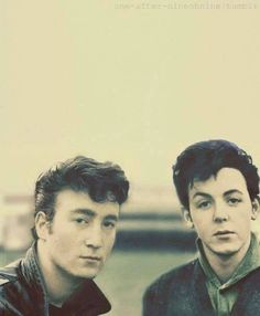 John Lennon and Paul McCartney