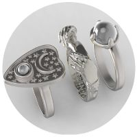 The Occultist Set - sterling silver $325