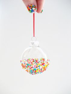 diy how to make sprinkles ornaments