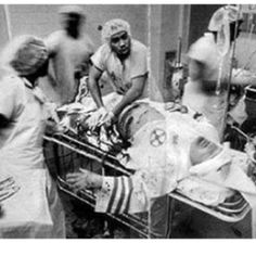 African American physicians in the ER trying to save a member of the Ku Klux Klan.