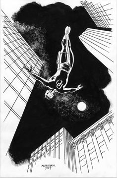 Daredevil by David Mazzucchelli via: comicblah
