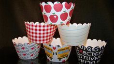Set of 12 Back to School CW805 CupCake Wrappers by BlingForU2, $7.50