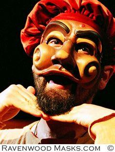 Commedia Mask - Theatre Masks by Alyssa Ravenwood