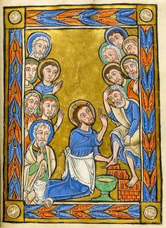 Vita Christi (Life of Christ) France, perhaps Corbie, ca. Images from Medieval and Renaissance Manuscripts - The Morgan Library & Museum Medieval Books, Medieval Manuscript, Medieval Art, Renaissance Art, Illuminated Manuscript, Christian Artwork, Christian Images, Religious Images, Religious Art
