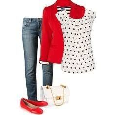 Example - Women's Contemporary Business Casual - CUTE! Would be better with red pumps instead :)