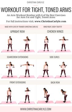Workout for Arm Fat Get tight, toned arms and burn fat christinacarlyle…. Workout for Arm Fat Get tight, toned arms and burn fat christinacarlyle…. Arm Fat Exercises, Good Arm Workouts, Easy Workouts, Fitness Exercises, Stomach Exercises, Squats Fitness, Training Exercises, Workouts To Tone Arms, Workouts For Toning