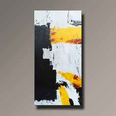 48 Yellow Black Gray White Rust Original Abstract