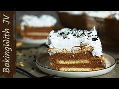 Μαμαδίστικο Γλυκό Ψυγείου με μπισκότα! 👌(Θεϊκή Συνταγή ) - YouTube Greek Desserts, Greek Recipes, Candy Recipes, Vanilla Cake, Tiramisu, Bakery, Food And Drink, Sweets, Ethnic Recipes