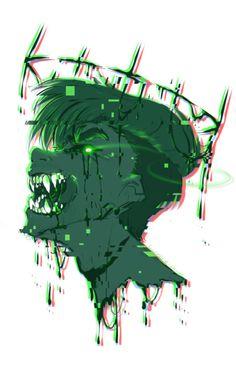 Antisepticeye by spock-sickle on DeviantArt Jacksepticeye Fan Art, Markiplier Memes, Pewdiepie, Antisepticeye Fanart, Darkiplier And Antisepticeye, Youtube Drawing, Jack And Mark, Septiplier, Epic Art