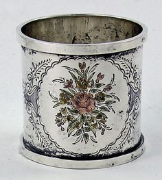 Antique American sterling silver napkin ring