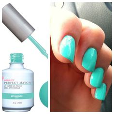 "Love this ""Moon River"" Color from LeChat Perfect Match for a Summer Gel Mani with matching Regular Polish Pedi"