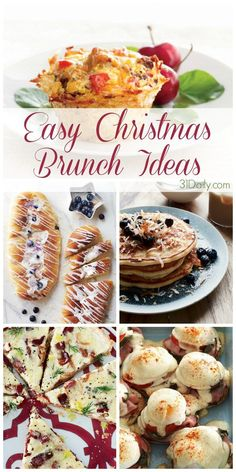 Christmas Breakfast and Brunch Recipes - Holiday Recipes Brunch Decor, Brunch Buffet, Brunch Party, Brunch Ideas, Dinner Parties, Christmas Brunch Menu, Christmas Morning Breakfast, Christmas Dinner Ideas Family, Simple Christmas