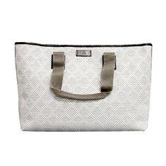 Gucci White Guccissima Trim Straw Woven Diamante Tote Handbag