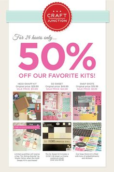 50% off kits March 20, 2013 only!