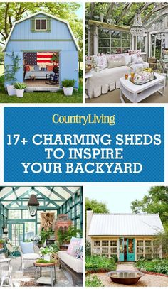 17 Charming She Shed Ideas and Inspiration — Cute She Shed Photos #greenhouseeffect