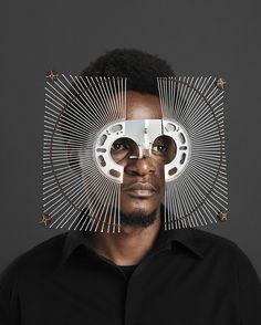 Des lunettes sculpturales à partir de métal récupéré