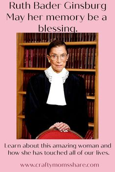 Learning about Justice Ruth Bader Ginsburg Justice Ruth Bader Ginsburg, Supreme Court Justices, Women's History, Cbs News, Civil Rights, Teaching Kids, Role Models, Amazing Women