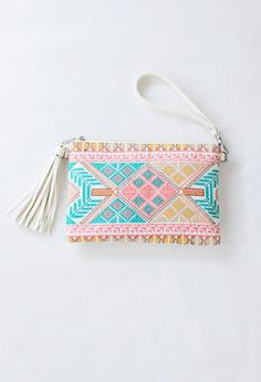 Embroidered Clutch / crossbody