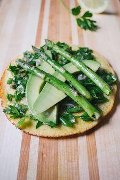 Socca with Parsley Salad