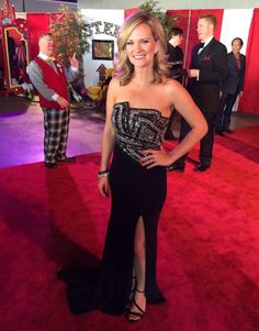 Fan Photo | Allison Kropff from 10 News This Morning rocking our Terani Couture Magnetic Gown on the Red Carpet! Terani 11260J
