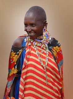 Africa | The beautiful smile of a Masai woman. Kenya | © Michael Sheridan.