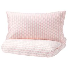 IKEA FJÄLLVEDEL Quilt cover and 2 pillowcases Pink 200 x x 80 cm Concealed press studs keep the quilt in place. Grey Bedding, Linen Bedding, Luxury Bedding, Hotel Bedroom Design, Ikea Baby, Cosy Bed, Condo, White Duvet Covers, Natural Bedding