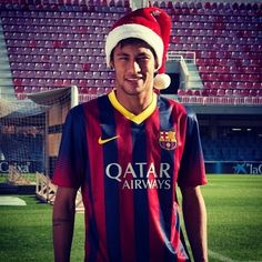 Merry Christmas from Neymar jr Neymar Pic, Messi And Neymar, Lionel Messi, Brazilian Soccer Players, Boyfriend Pictures, Professional Football, Play Soccer, Best Player, Fc Barcelona