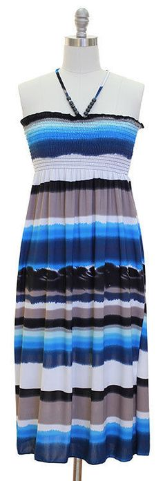 Awesome Great Womens Blue Tie-Dye Strapless Halter Smocked Top Dress Size M MEDIUM 8/10 Summer 2017 2018 Check more at http://24store.cf/fashion/great-womens-blue-tie-dye-strapless-halter-smocked-top-dress-size-m-medium-810-summer-2017-2018/