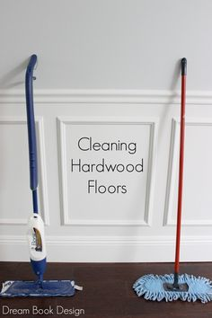 Best way to clean hardwood floors. Not only does this clean the floors great, but it also cleans your BASEBOARDS in seconds