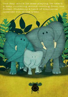 Little Bee Lost - Children's Book by Jennifer Farley, via Behance