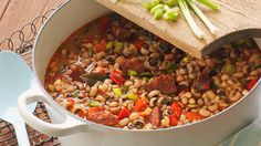 Hoppin' John Recipe   Dish up New Year's luck with a steaming pot of Hoppin' John! Our easy recipe is sure to be the start of a tasty New Year's tradition for your family.