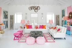 The Glam Pad: Maria Barros and her Fabulous Flamingos