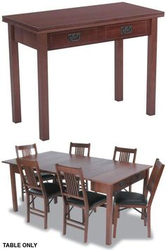 Expandaway Combination Dining Table - Folding Tables - Kitchen And Dining Room Furniture - Furniture | HomeDecorators.com