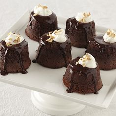 Ghirardelli Baking: Individual Chocolate-Amaretto Lava Cakes Impressive Results Worth Sharing. Bake with Ghirardelli.