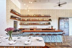 SAWYER Los Angeles Sawyer is a seafood-focused restaurant with a daily changing menu, the place also features an amazing garden patio. #ubiquelosangeles @sawyersilverlake