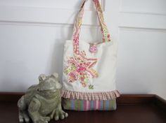 Girls pink tote bag Girls Green tote bag by BerkshireCollections, $39.00