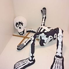 SKELETON MARIONETTE PUPPET Gemmy String-A-Lings Plush String and Bones Over 2 ft #Gemmy