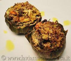 Carciofi ripieni di quinoa bicolor