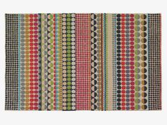BLOOMSBURY multi-coloured wool geometric rug 170 x - HabitatUK. Bloomsbury hand tufted rug designed by Margo Selby exclusively for Habitat. Features a colourful design with bold geometric shapes. The wool pile makes the rug hard wearing yet soft. Winter Blankets, Textiles, Circle Pattern, Geometric Rug, Bloomsbury, Small Rugs, Rugs In Living Room, Living Area, Living Spaces