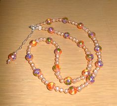 Perfect Peach/Handpainted pearls with by CreationsbyMaryEllen, $28.99 15 % off thru 2-14